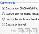 Selecting a DV capture mode